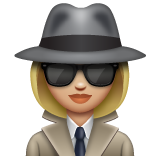 Woman Detective: Medium-Light Skin Tone on WhatsApp 2.19.244