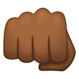 Oncoming Fist: Medium-Dark Skin Tone on WhatsApp 2.19.244