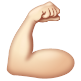 Flexed Biceps: Light Skin Tone on WhatsApp 2.19.244