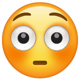 Flushed Face on WhatsApp 2.19.244