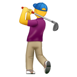 Person Golfing on WhatsApp 2.19.244