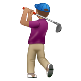 Person Golfing: Medium Skin Tone on WhatsApp 2.19.244