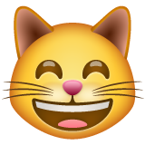 Grinning Cat With Smiling Eyes on WhatsApp 2.19.244