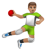 Person Playing Handball: Medium Skin Tone on WhatsApp 2.19.244