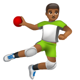 Person Playing Handball: Medium-Dark Skin Tone on WhatsApp 2.19.244