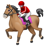 Horse Racing: Medium-Light Skin Tone on WhatsApp 2.19.244