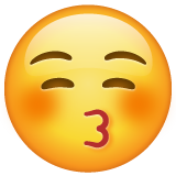 Kissing Face With Closed Eyes on WhatsApp 2.19.244