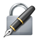 Locked With Pen on WhatsApp 2.19.244