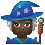 Mage: Dark Skin Tone on WhatsApp 2.19.244