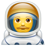 Man Astronaut on WhatsApp 2.19.244