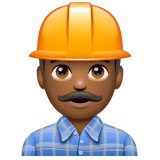 Man Construction Worker: Medium-Dark Skin Tone on WhatsApp 2.19.244