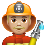 Man Firefighter: Medium-Light Skin Tone on WhatsApp 2.19.244