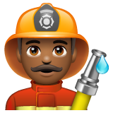 Man Firefighter: Medium-Dark Skin Tone on WhatsApp 2.19.244