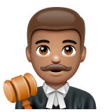 Man Judge: Medium Skin Tone on WhatsApp 2.19.244