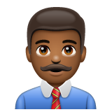 Man Office Worker: Medium-Dark Skin Tone on WhatsApp 2.19.244