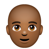 Man: Medium-Dark Skin Tone, Bald on WhatsApp 2.19.244
