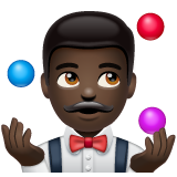 Man Juggling: Dark Skin Tone on WhatsApp 2.19.244