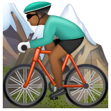 Man Mountain Biking: Medium-Dark Skin Tone on WhatsApp 2.19.244