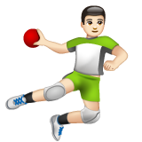 Man Playing Handball: Light Skin Tone on WhatsApp 2.19.244