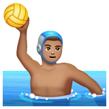 Man Playing Water Polo: Medium Skin Tone on WhatsApp 2.19.244