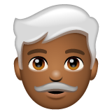 Man: Medium-Dark Skin Tone, White Hair on WhatsApp 2.19.244