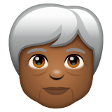 Older Person: Medium-Dark Skin Tone on WhatsApp 2.19.244