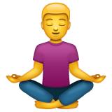 Person in Lotus Position on WhatsApp 2.19.244