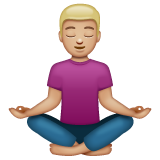 Person in Lotus Position: Medium-Light Skin Tone on WhatsApp 2.19.244