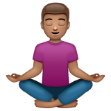 Person in Lotus Position: Medium Skin Tone on WhatsApp 2.19.244