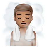 Person in Steamy Room: Medium Skin Tone on WhatsApp 2.19.244
