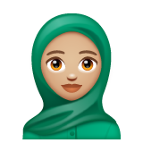 Woman With Headscarf: Medium-Light Skin Tone on WhatsApp 2.19.244