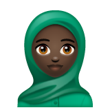 Woman With Headscarf: Dark Skin Tone on WhatsApp 2.19.244