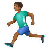 Person Running: Medium-Dark Skin Tone on WhatsApp 2.19.244