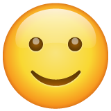 Slightly Smiling Face on WhatsApp 2.19.244
