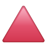 Red Triangle Pointed Up on WhatsApp 2.19.244