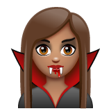 Vampire: Medium Skin Tone on WhatsApp 2.19.244