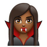 Vampire: Medium-Dark Skin Tone on WhatsApp 2.19.244