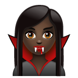 Vampire: Dark Skin Tone on WhatsApp 2.19.244