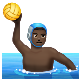 Person Playing Water Polo: Dark Skin Tone on WhatsApp 2.19.244