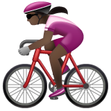 Woman Biking: Dark Skin Tone on WhatsApp 2.19.244