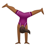 Woman Cartwheeling: Medium-Dark Skin Tone on WhatsApp 2.19.244