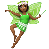 Woman Fairy: Medium-Dark Skin Tone on WhatsApp 2.19.244