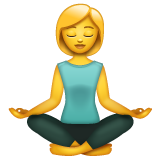 Woman in Lotus Position on WhatsApp 2.19.244