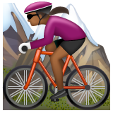 Woman Mountain Biking: Medium-Dark Skin Tone on WhatsApp 2.19.244
