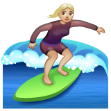 Woman Surfing: Medium-Light Skin Tone on WhatsApp 2.19.244