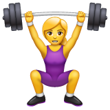 Woman Lifting Weights on WhatsApp 2.19.244