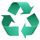 Recycling Symbol on WhatsApp 2.19.352