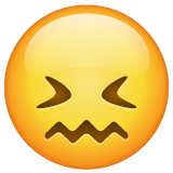 Confounded Face on WhatsApp 2.19.352