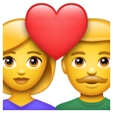 Couple with Heart: Woman, Man on WhatsApp 2.19.352