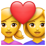 Couple with Heart: Woman, Woman on WhatsApp 2.19.352
